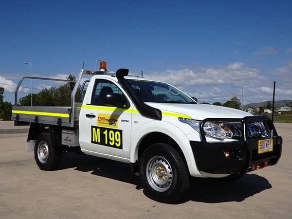 Our newest 4x4 single cab dropside utility set up to 'Mine spec'