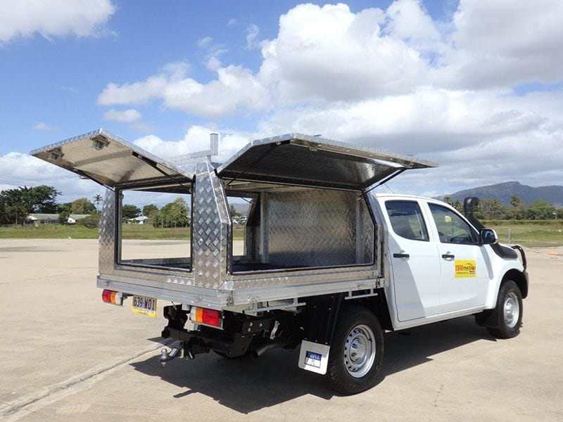 Optional Trademan canopy to suit our Dual Cab dropside utilities