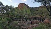 Footbridge on the Cuttheringa Track up Castle Hill