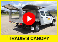 Truck hire trade canopy