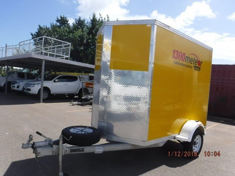 8x5 V nose Furniture Trailer 7m3 with fold down ramp and tie down points