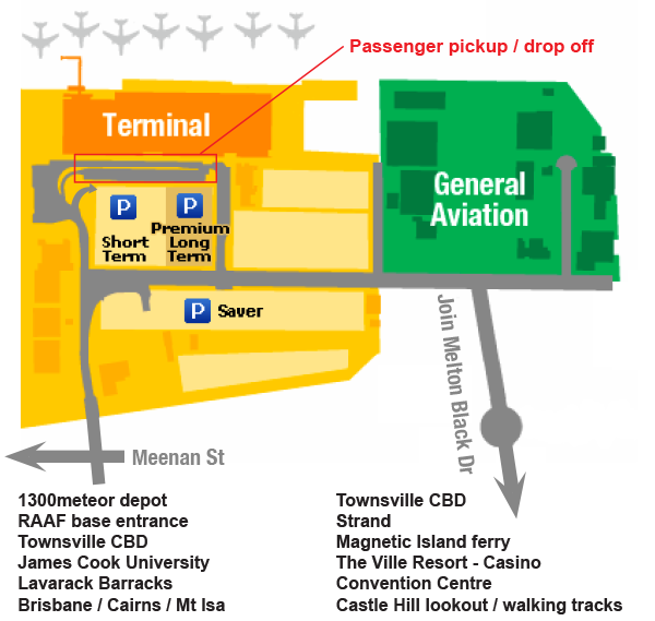 Townsville Airport Map