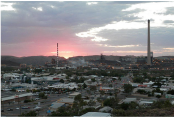 Mt Isa CBD at dusk