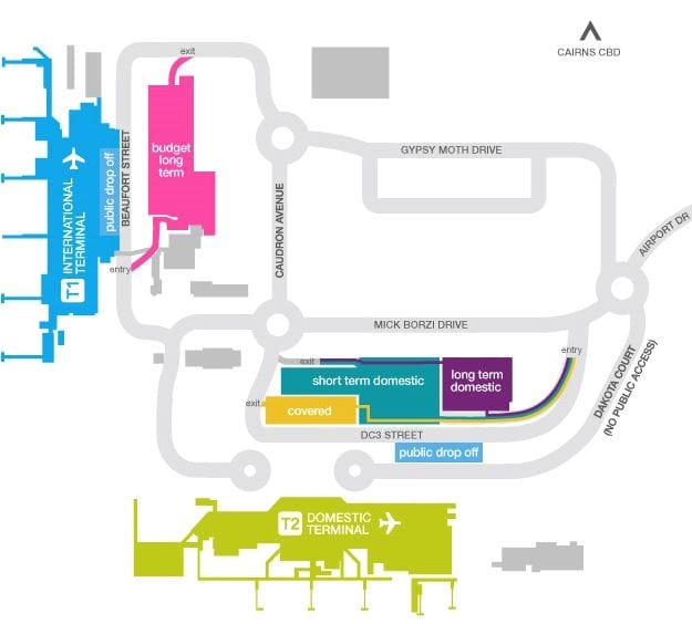 Cairns Airport carpark map