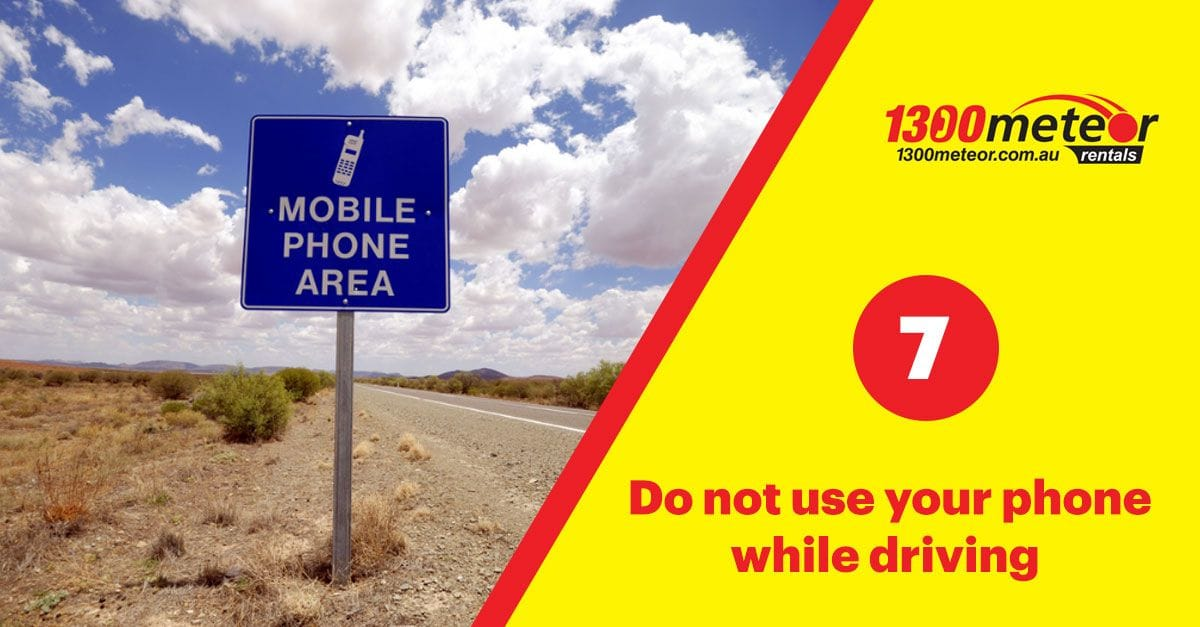 use of mobile phone | 1300 Meteor 7 Tips for Driving in Australia