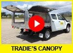 Trade canopy ute hire