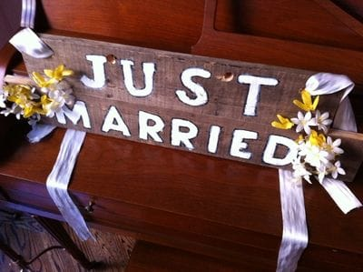just married sign toronto rolls royce rentals vintage cars