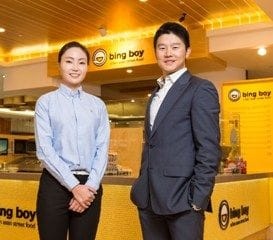 BING BOY BRINGS EAST TO THE WEST