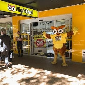 NIGHTOWL FLIES INTO BRISBANE CBD