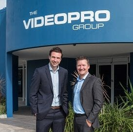 EXECUTIVES TAKE A SLICE OF VIDEOPRO