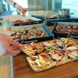 DOMINO'S PIZZA EMPLOYEES OFFERED A SLICE OF THE PIE