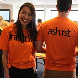 ASHURST HELPING ORANGE SKY LAUNDRY FLY