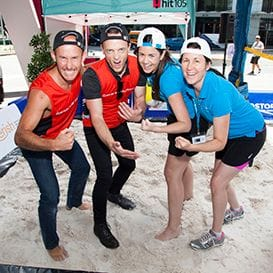 CORPORATES SERVE UP FOR CHARITY