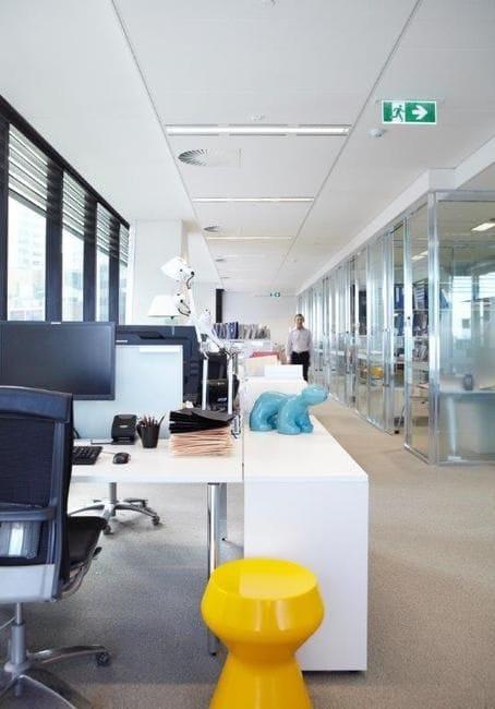 Office lights up