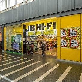 JB Hi-Fi produces record first half but share price plunges
