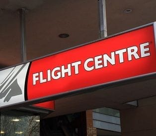Flight Centre flying high as share price surges