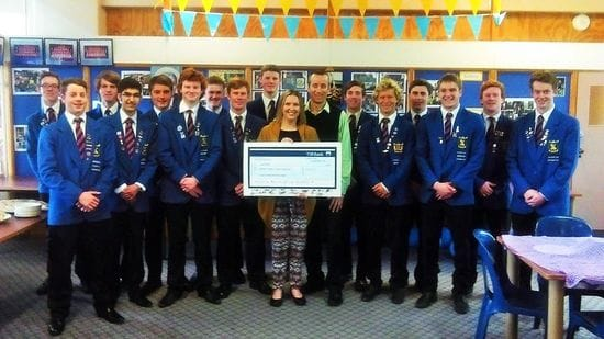 New Plymouth students pitch in for cancer charity