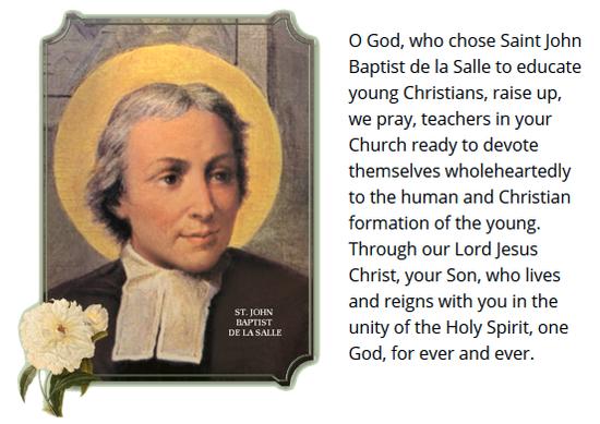 Prayer for Inspiration from De La Salle