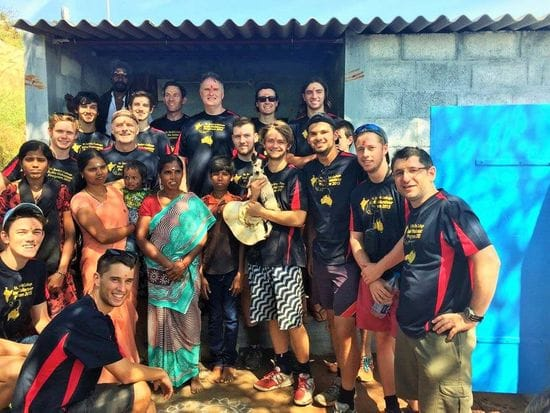 St Bede's team rebuilding homes in India
