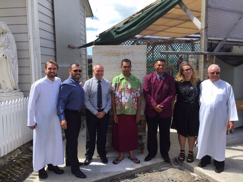 Blessing of the Stone for new Founder's Statue at Mangere
