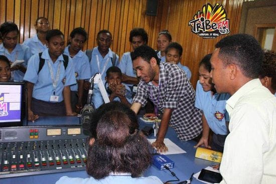Budding broadcasters from Jubilee Secondary meet new mentors at NBC