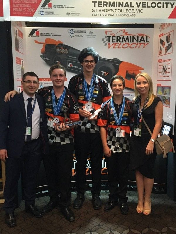 St Bede's Mentone students qualify for World Finals of the F1 in Schools Challenge
