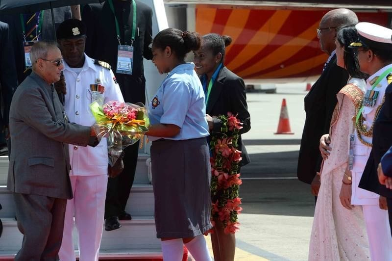 Jubilee Student welcomes India's President to PNG