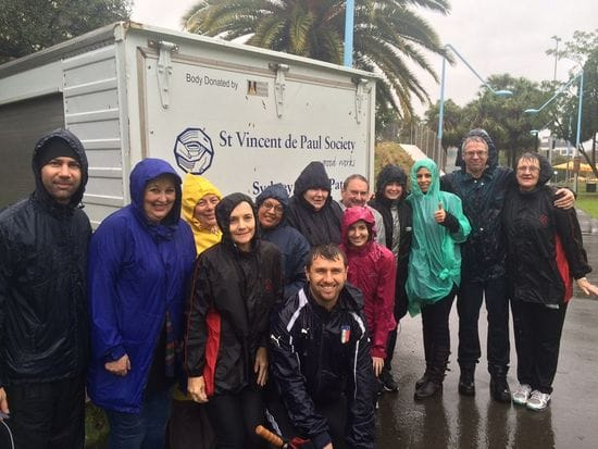 Staff from De La Salle Revesby reach out to the homeless