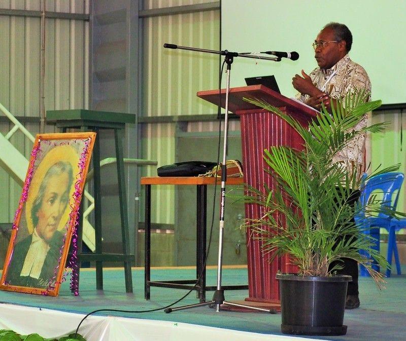 Bishop Rochus Tatamai addresses Teachers Gathering in Hohola