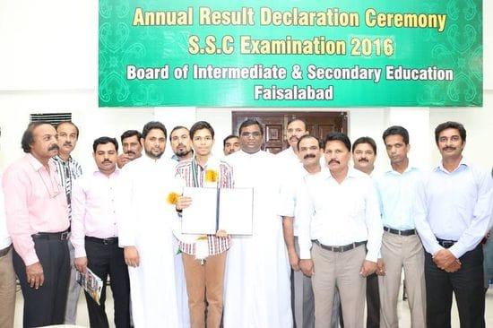La Salle High School student declared top scholar in Faisalabad examinations