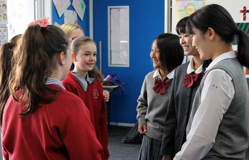 Southern Cross Catholic College promoting strong ties with Japan
