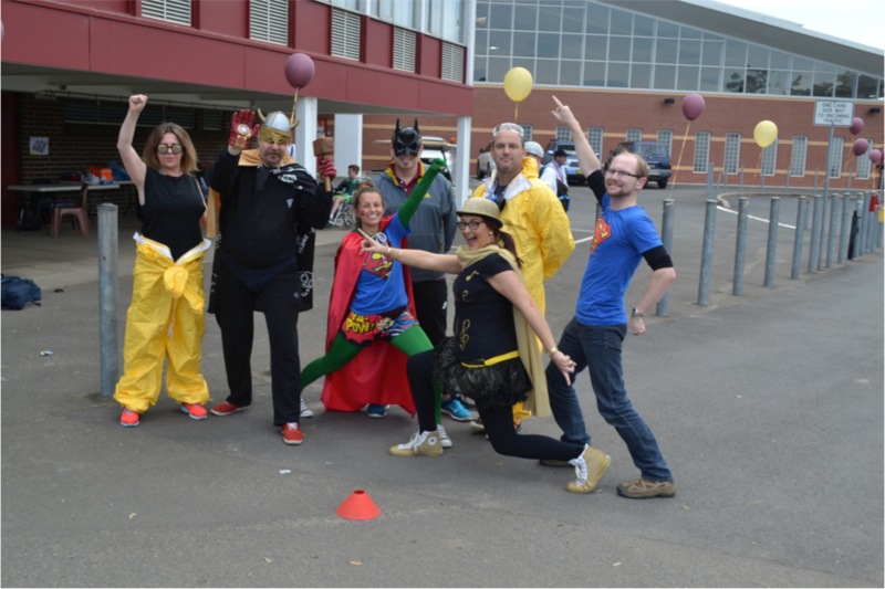 Superhero effort on Mission Action Day at Oakhill College