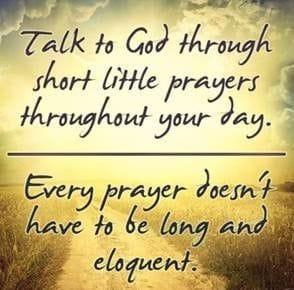 The beauty of prayer