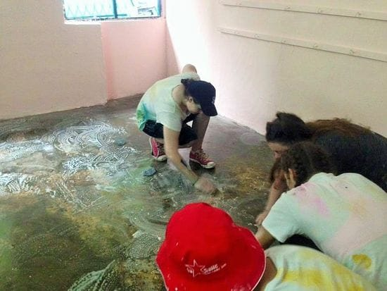 Southern Cross College students hard at work in Sri Lanka