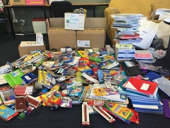 Lasallian Youth Ministers lead Stationery Drive for PNG