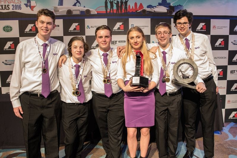 St Bede's students shine at F1 in Schools World Final