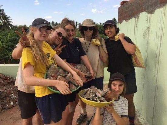 Oakhill College students help build new health facilities in India