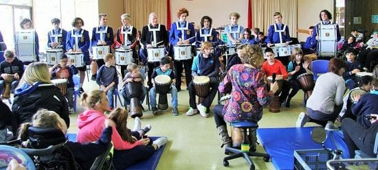St Bede's musicians' outreach to students with disabilities
