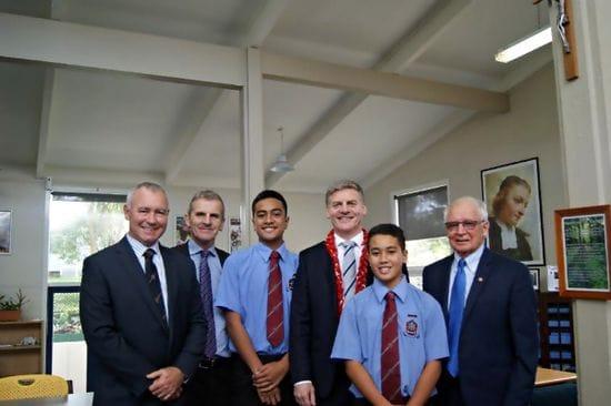 New Zealand PM visits De La Salle College,Mangere East