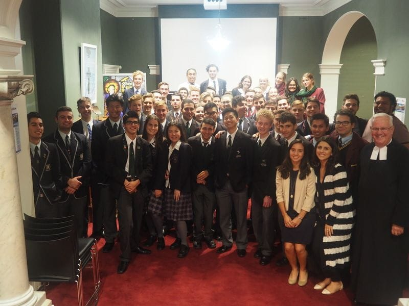 Young Lasallians evening with Br David Hawke at ACU