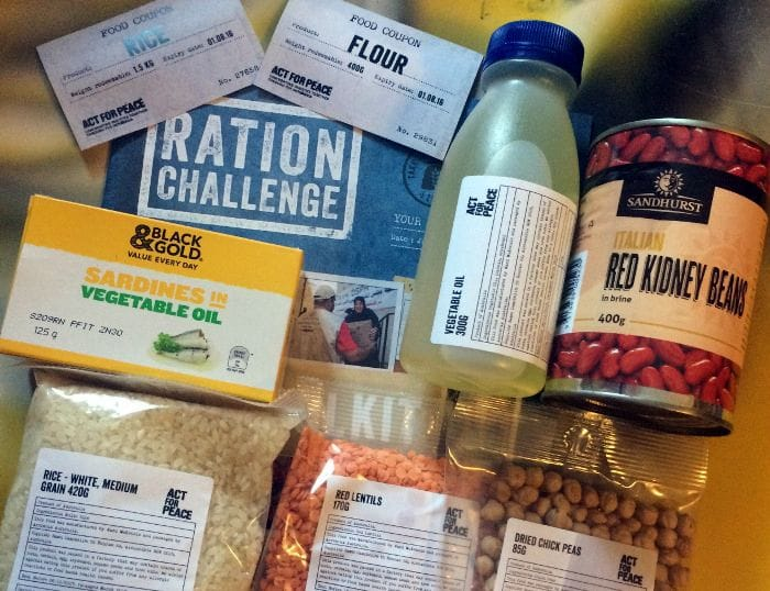 Oakhill ration challenge for Refugee Week 2017