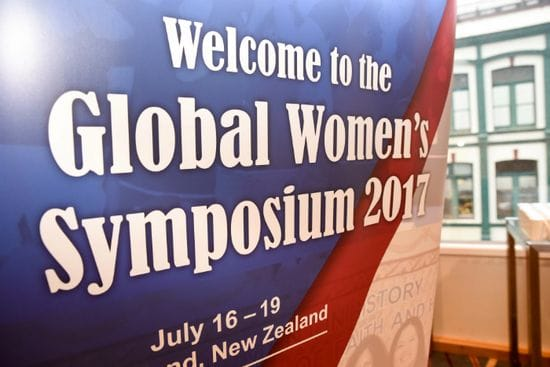 Br Robert Schieler marks the opening of the Global Women's Symposium, Auckland 2017