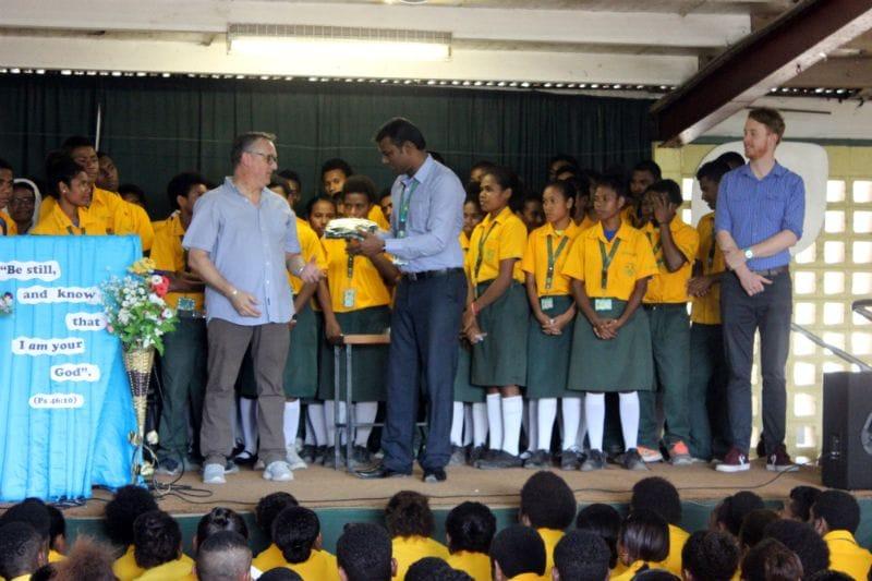 St James College visit LaSalle Technical College, Hohola
