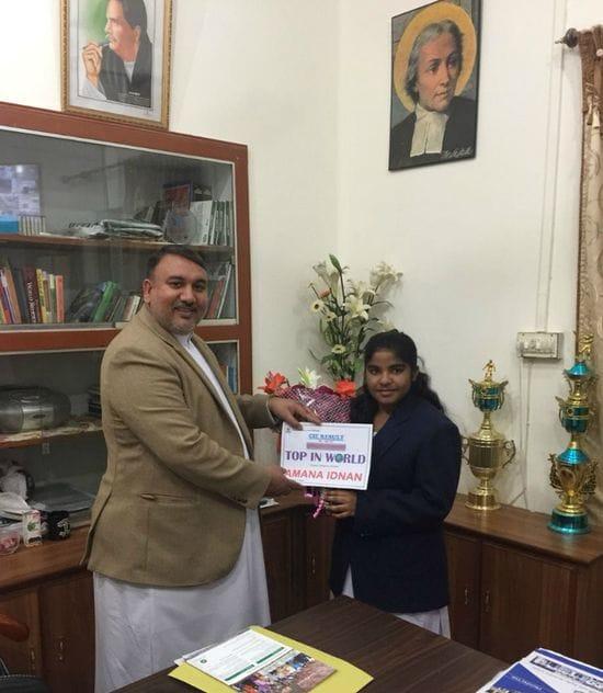 La Salle Multan student receives top score