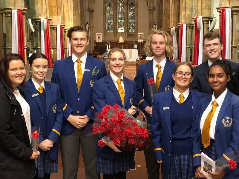 St Michael's College attend ANZAC Day Mass