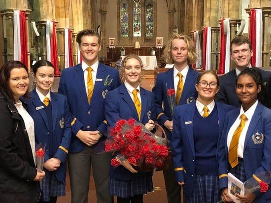 St Michael's College attend ANZAC Day Mass