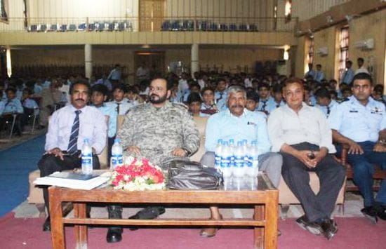 Air Force captains encourage Multan students to soar