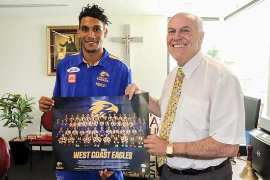 West Coast Eagles defender pays tribute to his former high school, La Salle College