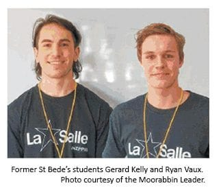 St Bede's pair to use gap year to help others