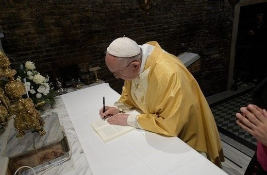 Pope signs apostolic exhortation to young people